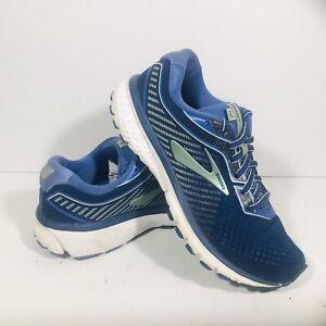 Brooks Ghost 12 Women's Size 7 Running Shoes Peacoat Blue Aqua 1203051B413