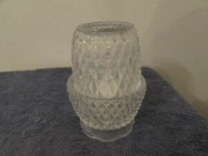 """""""Cafe"""" 2 pc Fairy Lamp Votive Candle Holder, Manhattan By Crystal Clear, 5"""" Tall"""