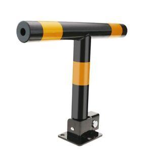 Sbarra Posteggio Auto con 3 Punti di Fissaggio, Ribaltabile colore giallo/nero