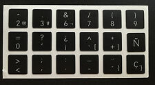 Pegatinas para teclado español - Apple black Macbook Spanish Keyboard Stickers