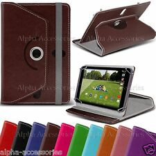 """Universal Case For 7"""" 7 Inch Tab Android Tablet PU Leather 360° Stand Cover PC"""