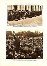 WWI Volontaires Manoeuvres Sammies VOLUNTEERS MANEUVERS Roosevelt ILLUSTRATION