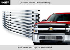 Fits 2015-2017 Chevy Silverado 2500HD/ 3500HD Stainless Bumper Billet Grille