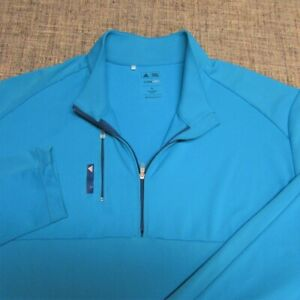 ADIDAS CLIMALITE SOFT POLY SPANDEX 1/4 ZIP GOLF PULLOVER--X:--FLAWLESS--SPOTLESS