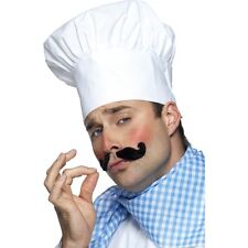 White Chef Hat Puffy Cook Cap Adult Unisex Womens Mens Halloween Costume Chefs