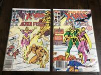 X-Men & Alpha Flight #1 #2 Complete Limited Series Marvel Comics 1985 Newsstand