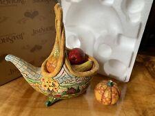 Jim Shore Heartwood Creek | Basket Of Plenty | 4009015 Cornucopia Harvest 6 Pcs