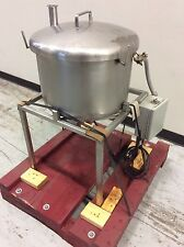 """13-GAL. STAINLESS STEEL HOLDING TANK 18""""DIA X 12""""Deep W/ LEVEL FLOAT"""