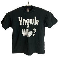 Vintage Yngwie Malmsteen XL Black Single Stitch T Shirt Yngwie Who? Heavy Metal