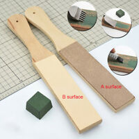 1Pc Dual Sided Leather Blade Tool Razor Sharpener Polishing Compounds Too DFC