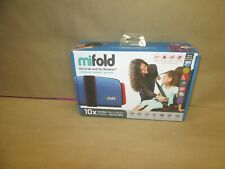 Mifold Grab-and-go Car Booster Seat, Denim Blue, Compact & Portable for travel
