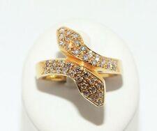 Handgefertigt Echte Diamanten-Ringe aus Gelbgold mit Brilliantschliff für Damen