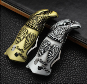 1 Eagle Torch Flame Windproof Lighter with Pocket Knife(No butane,color random)