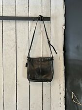 Vintage 80s Black Leather Classic Coach Cross Body Berkeley Duffle Sax Hand Bag