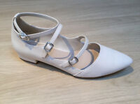 New Look Size 9 Strappy Cream Pointed Womens Shoes 9/43 BRAND NEW