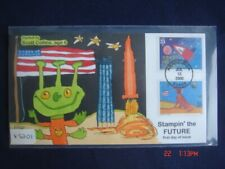 Stampin The Future 33c Stamps FDC Handpainted Collins#X3201 Sc#3416-17