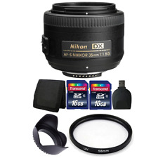Nikon AF-S DX NIKKOR 35mm f/1.8G Lens + 32GB Top Accessory Kit