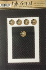 Woolly Tweed Die-Cut Frame(6pc)My Mind Eye•This & That•Button•Fabric •Material•