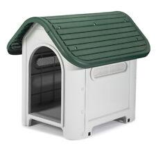 Hundehütte Hundehaus Haustierhaus wetterfest grau/grün  660 x 590 x 750 mm