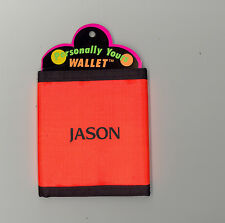 Personally Yours Wallet ~ JASON ~ Stocking Stuffer ~ Orange Personalized Wallet