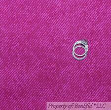 BonEful FABRIC FQ Cotton Quilt Dark Pink Retro Bias STRIPE Denim Texture Blender