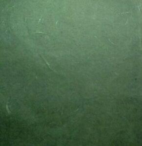 10 70x50cm sheets FINE MULBERRY TISSUE paper MOSS GREEN strawsilk unryo 25 gsm