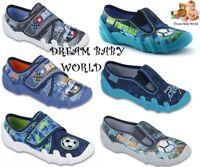 BEFADO boys canvas shoes nursery slippers trainers NEW size 8 - 12 UK KIDS