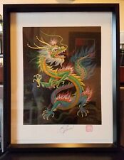 Original Framed Dragon Stamped And Signed by K Chin Carmel By The Sea Print
