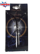 Sword Of Gaelen Charms Pendant Gothic Necklace Wicca Black Leather Cord