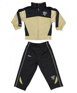 Pittsburgh Penguins Reebok NHL Toddler Black/Gold Jacket & Pants Set