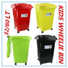 2 X Valid Only for Saad Hafiz 60l Kids Toy Storage Mini Plastic Wheelie Bin Green