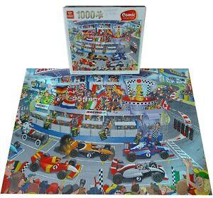 King 1000 Piece Jigsaw Puzzle,Cartoon Comic,Pole Position Motor Car Race Racing