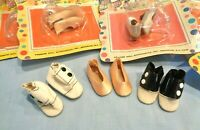 """VINTAGE PREMIER """"DOLL THINGS"""" MIXED SHOE LOT 14"""" & 17"""" MADAME ALEXANDER, VOGUE"""