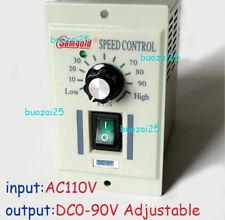 400W AC 110V Motor Speed Controller 1/3phase DC 0-90V Variable Adjust Control