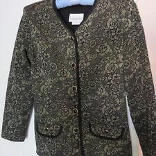 Vintage Paquette Too Byer California Black /Gold Flover Jacket Women's 10