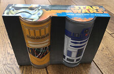 Disney Star Wars R2-D2 And C-3PO Set Of Two Glasses - New