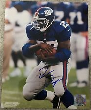RON DAYNE SIGNED AUTOGRAPHED NEW YORK GIANTS 8x10 PHOTO ~COA