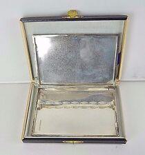 Vintage 925 Sterling Silver Cigarette Case W/Tobacco Flapper & Original Box J167