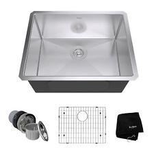Kraus 23 Inch Rectangular Undermount Single Bowl Stainless Steel Kitchen Sink