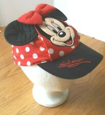 Disneyland Minnie Mouse Ears Baseball Cap Hat Toddler Red White Dots Costume