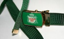 Vintage Canada Dry Logo Soda Brass Belt  & Buckle New NOS 1980s USA