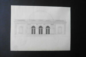 FRENCH SCHOOL 19thC - ARCHITECTURAL STUDY PUBLIC BUILDING - INK DRAWING