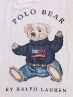 Vintage RALPH LAUREN Polo Bear Towel Beach/Pool/Bath Terrycloth Cotton 35x66 USA