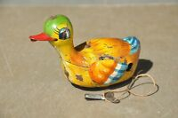 Vintage Wind Up Litho Colorful Duck Tin Toy , Japan ?