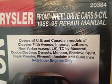 1991 plymouth acclaim service repair manual software