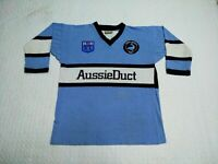 Cronulla Sutherland Sharks Retro Rugby League Jersey Shirt
