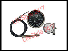 "Replica Smiths Speedometer Black 120 MPH + 54"" Cable + Alloy Hub Drive"