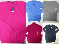 New with Tag Polo Ralph Lauren Women's Knit Sweaters Size XS, S, M Clothes Lot