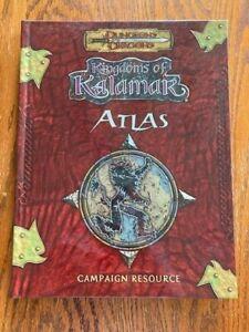 Dungeons and Dragons: Kingdoms of Kalamar Atlas - Campaign Resource