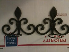 IRON METAL WALL SCONCE CANDLE HOLDER FRENCH HARLEQUIN SET OF TWO HOME DECO CHIC
